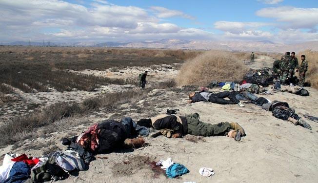 Army kills dozens of militants near Damascus: state TV