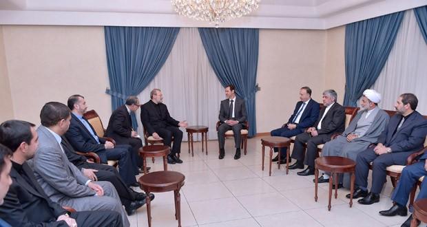 President-Assad-Larijani-620x330